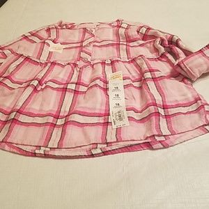 Flannel baby doll top